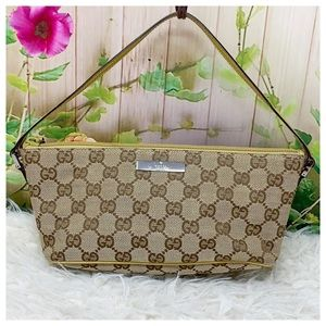 Authentic Gucci GG Monogram Po' Clutch Bag
